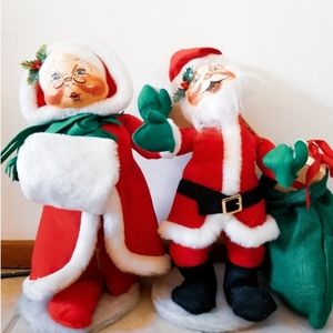 Vintage Annalee Mr. & Mrs. Santa Claus